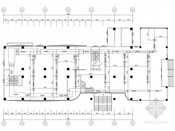 [河南]多层商场空调制冷系统设计施工图(TZK台佳组合式机组)
