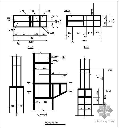 某单牛腿节点构造详图(五)