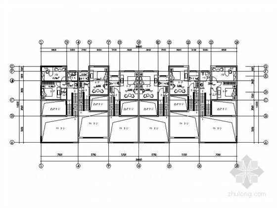 [上海]高档板式住宅楼建筑设计方案图-高档板式住宅楼建筑平面图