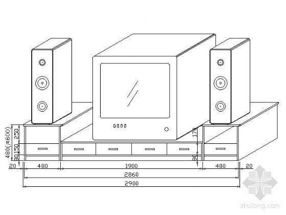 常用家具立面及透视图块