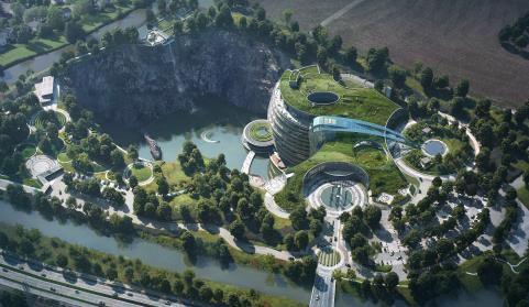 废石坑内的五星级酒店——世茂深坑酒店建筑、结构、施工最全解析