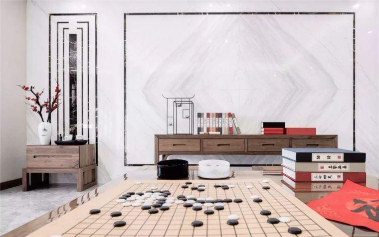 新中式徽派元素山水画为轴线的家装设计_18