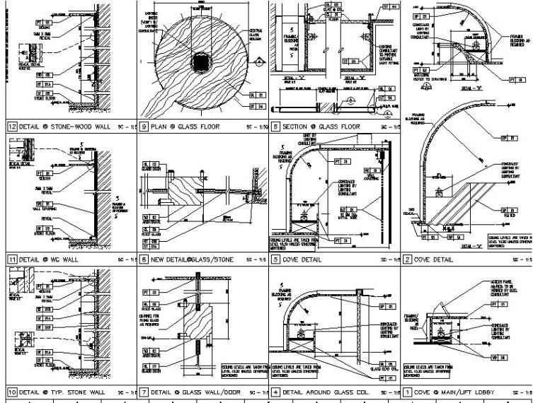 【超全】5600多套室内设计施工图大样节点剖面图合集_1