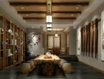 中式灰调茶室3D模型