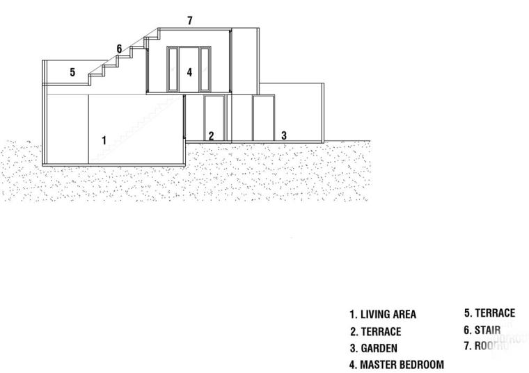 泰国设有阶梯式屋顶露台Fuzzy住宅-15