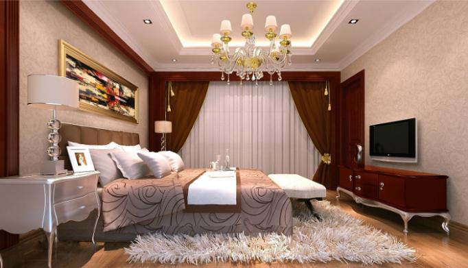 上千家(泉州)三层别墅室内设计施工图(含效果图)-客房效果图