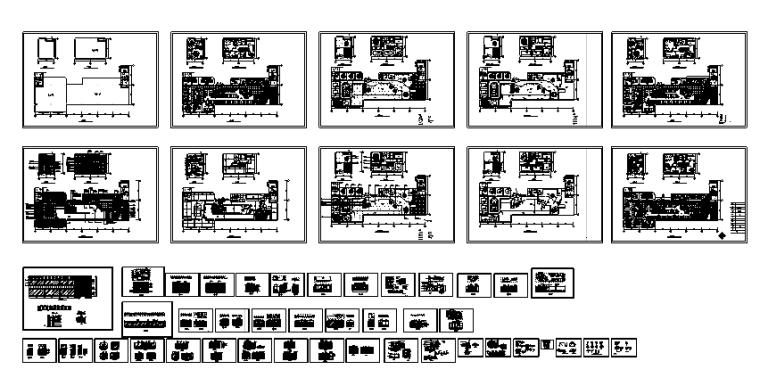 30套咖啡厅西餐厅设计方案CAD图纸_4