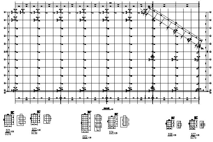 成都74X171mm门式刚架结构施工图(CAD,全套)