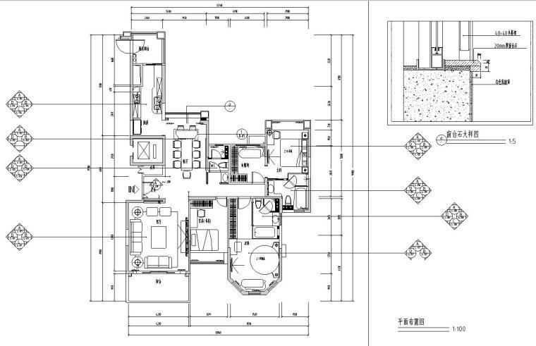 [江苏]现代简约锦绣半岛居住区室内施工图设计(CAD+实景图)