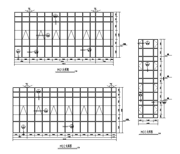 [安徽]玻璃幕墙深化设计施工图(2017)-幕墙大样图