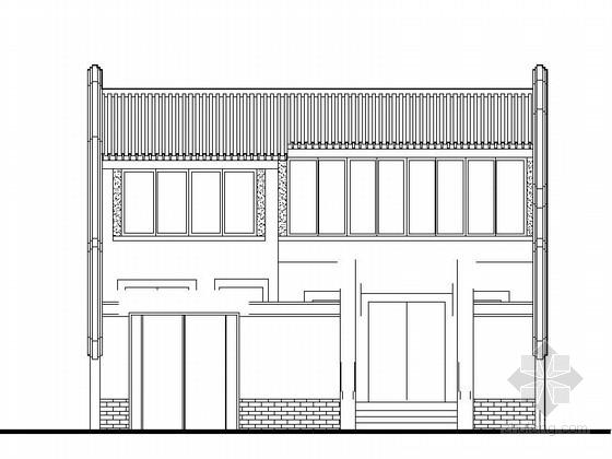 [传统建筑]北方四合院建筑设计图纸(含效果图)