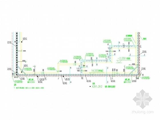 [山东]16米深基坑扩大头锚杆优化施工图
