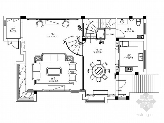 [安徽]顶级庄园高端古典欧式风格三层别墅室内装修施工图(含效果)