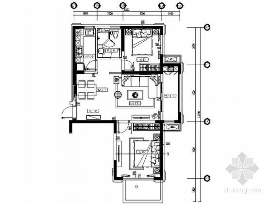[山东]精装现代风格样板间装修施工图
