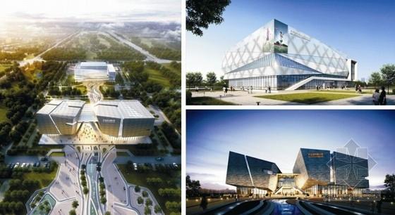 [安徽]两栋单体城市展示馆及全民健身活动中心结构施工图(含详细建筑图)