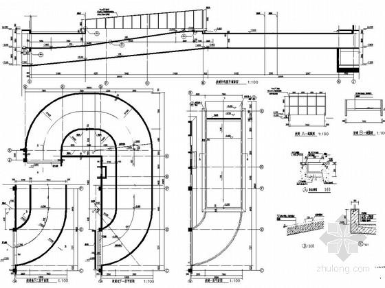 地下两层车库汽车坡道结构图