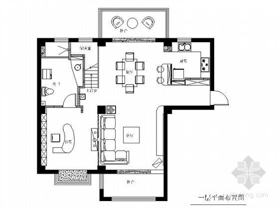 [常熟]大型复合小区后现代风格复式装修施工图(含高清实景图)
