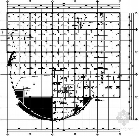 [北京]局部五层展览馆框架结构施工图