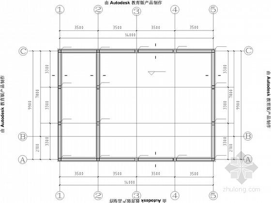 村委办公楼一层砖混结构施工图(2013年8月)