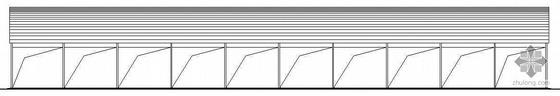 某单层拱形轻钢结构厂房建筑施工图