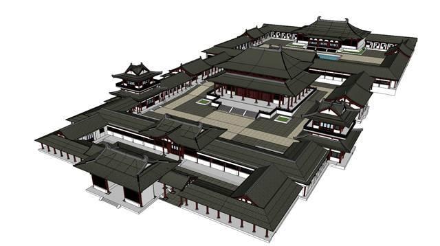 分享一组SU古建筑模型