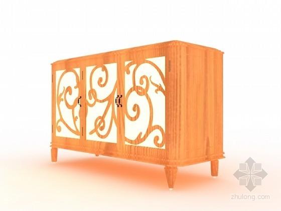 欧式古典装饰柜3d模型下载