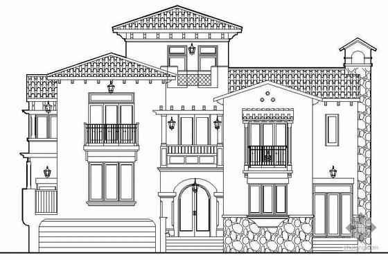 [惠州市]某26号C型独立别墅建筑结构水暖电方案套图