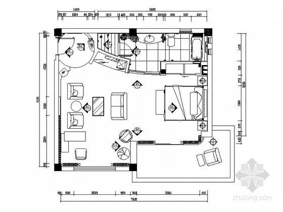 现代时尚家庭套房装修图