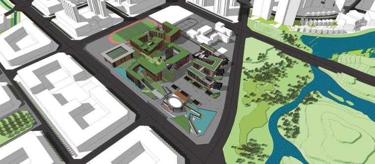 [四川]现代化多组合布局绿色空间校园建筑设计方案文本
