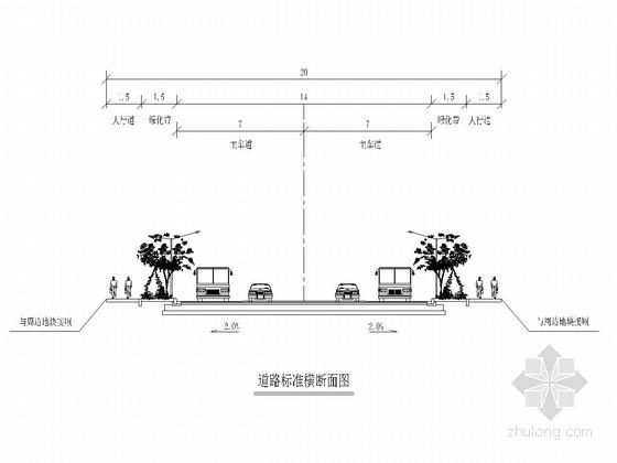 [广东]市政道路升级改造工程施工图设计20张