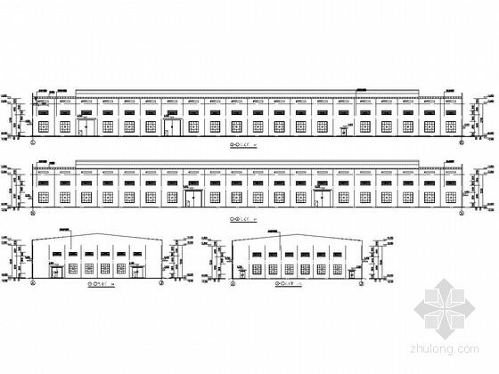 48米跨铝业有限公司冷轧车间结构施工图(含建筑图 2台10T吊车)