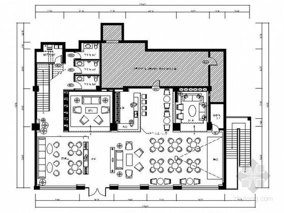 [原创]精品高档现代风格酒吧KTV室内设计装修施工图(含效果)