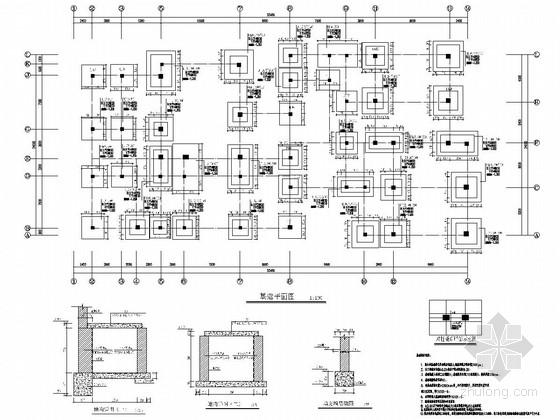 [山东]地上三层混凝土框架结构幼儿园结构施工图