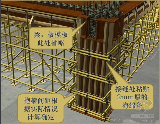 建筑工程模板工程施工技术操作规程(丰富精美图片)