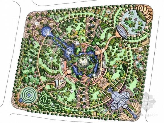 [上海]现代都市公共绿地景观规划设计方案