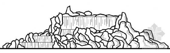 假山叠水及矩形水池施工图