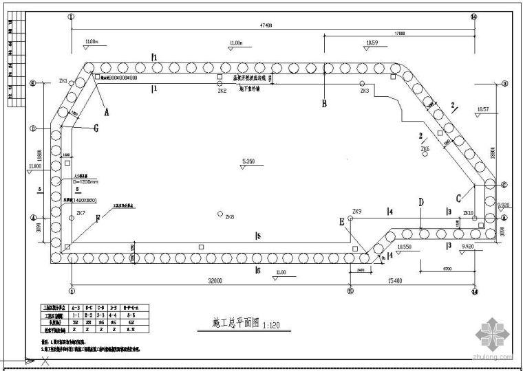 某公寓地基基础基坑施工节点构造详图