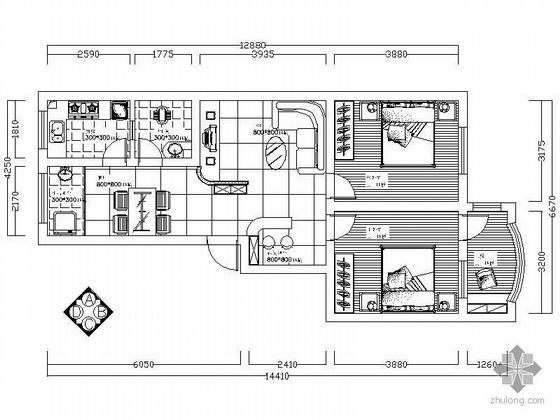 两室两厅家居装修图