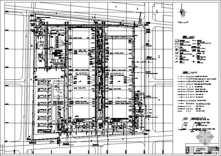 某大型工业厂房综合管线施工图