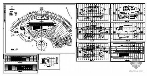 某五层高校图书馆方案设计-4