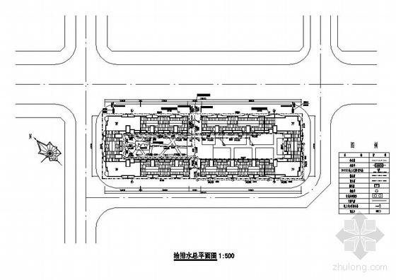 重庆某住宅小区给排水总平面图