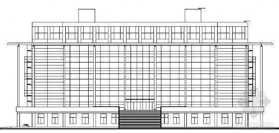 某师范学院图书馆建筑方案图