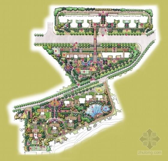 [深圳]热带风情住宅小区景观设计方案文本(含CAD)