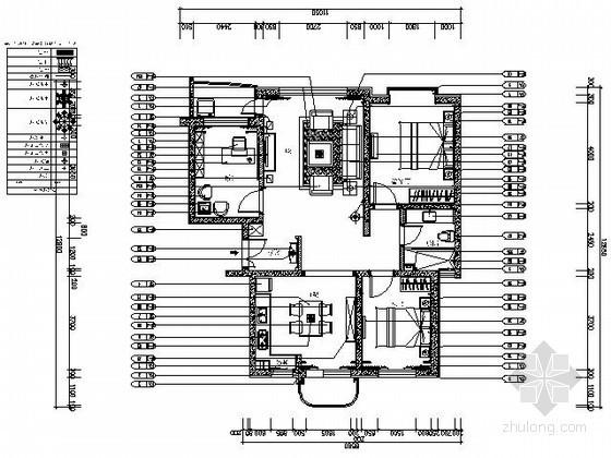 [大连]90㎡三室两厅室内施工图(含实景)
