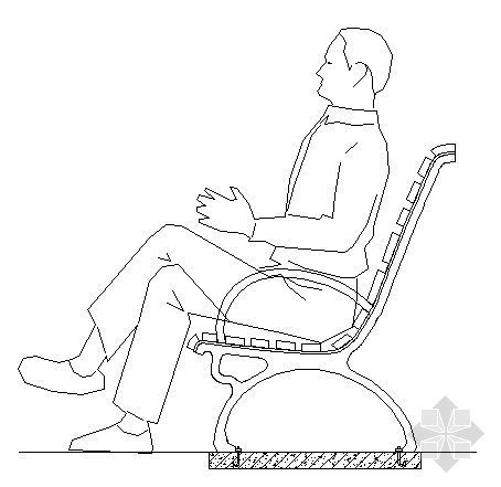 休闲座椅大样图