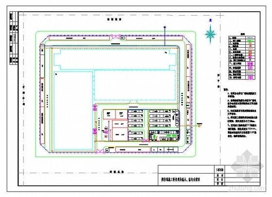安徽某广电中心精装饰施工阶段现场临水、临电布置图