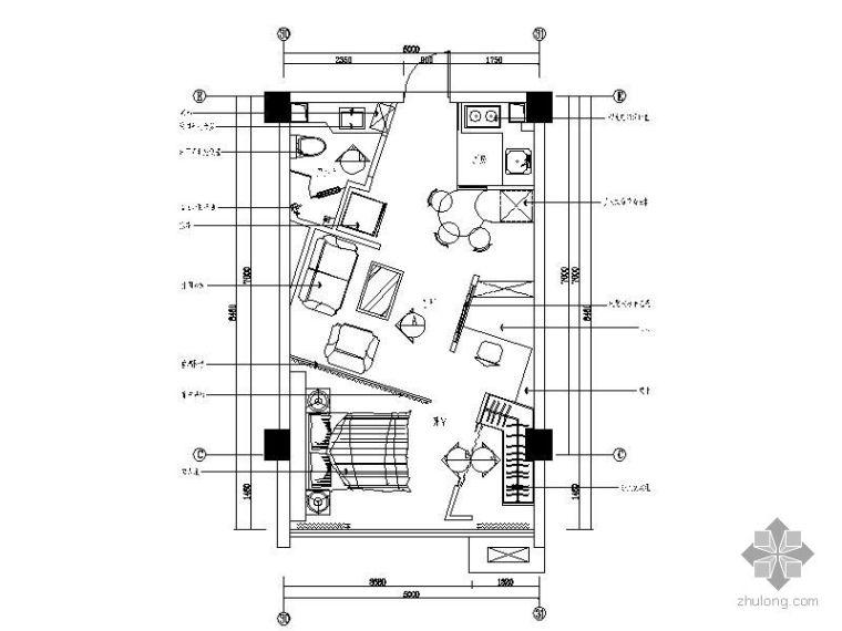 现代风格一室一厅装修图(含效果)