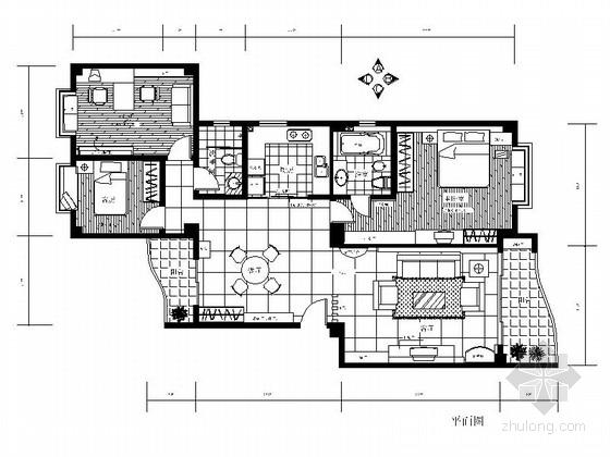 某简约三室两厅样板间装修图(含实景)
