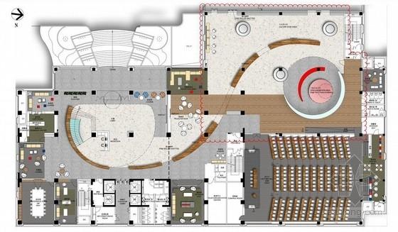 [上海]现代高档医疗器械办公楼室内设计方案图