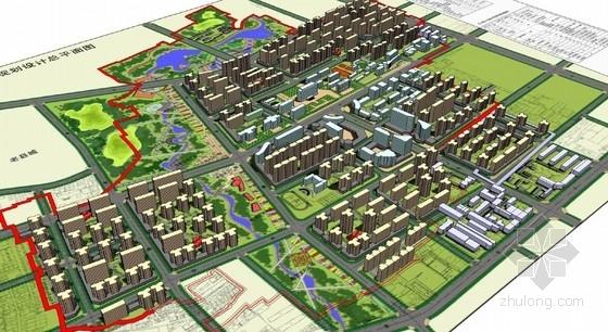 [陕西]田野乡趣绿景城中村设计方案(知名设计院所)-鸟瞰图